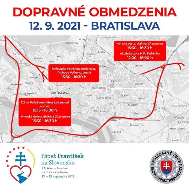 Traffic limitations on September 12, 2021