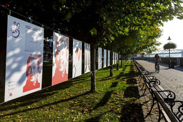 The Legacy of Václav Havel in the Work of Young Graphic Artists is a public display running until November 5 in a Bratislava park near the Danube. The last Czechoslovak president would have celebrated his 85th birthday this week.
