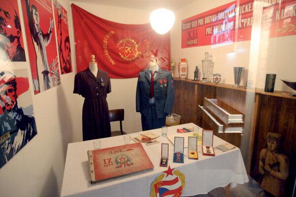 The exhibition also recalls Slovakia's Communist past.