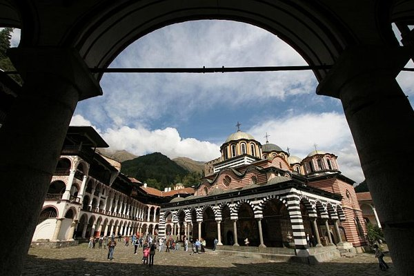 Rila monastery, one of most popular sights of Bulgaria, some 120 km (75 miles) south from the Bulgarian capital Sofia.