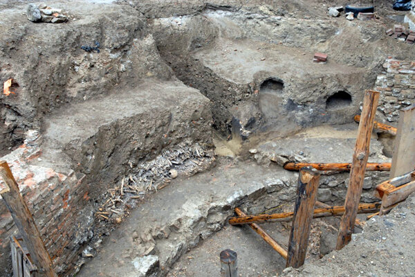 The Trnava excavation uncovered ancient architecture.