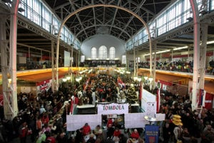 The Christmas Bazaar is a charity event that attracts thousands of people every year.
