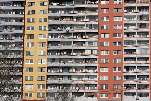 Prices of old apartments are falling down.