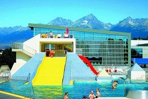 AquaCity in Poprad offers warm waters and splendid views of the High Tatra.