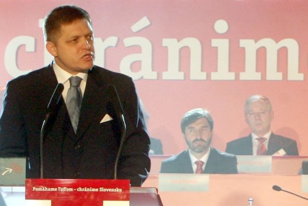 Robert Fico at the Smer congress.