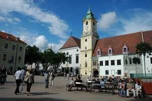 Bratislava's old town is a favourite among tourists.