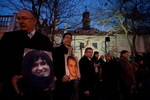 Slovaks joined Belarusians in protest.