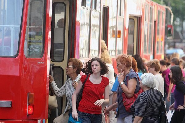 Bratislava residents often use their city card to buy transport passes.