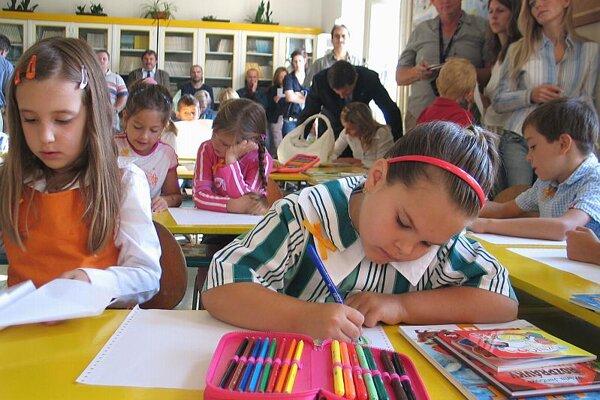 Slovak pupils return to school after the summer break on September 5.