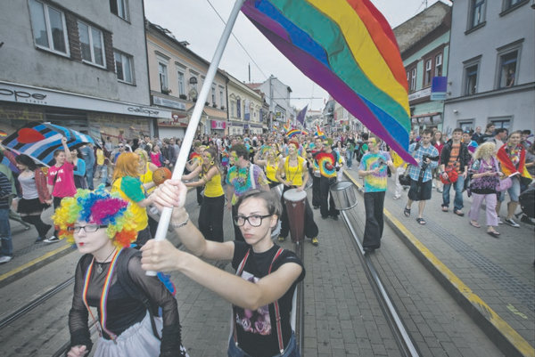 Rainbow Pride marchers in June protested that the rights of LGBT citizens in Slovakia are not protected well.