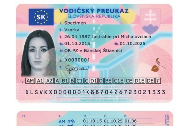 New look of the driving license.