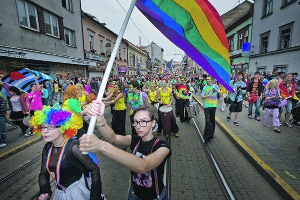 The Rainbow Pride 2015 parade in Bratislava.