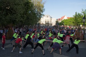 The International Dance Day 2012 was held also in Hviezdoslavovo Square.
