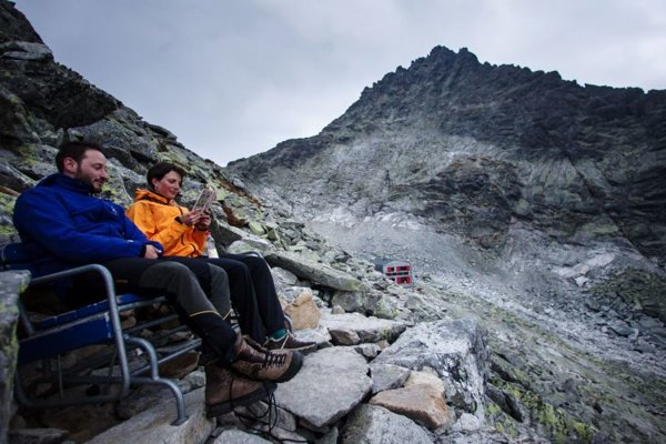 Hikers enjoy the High Tatras.