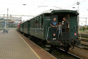 Historical train between Banská Bystrica and Zvolen