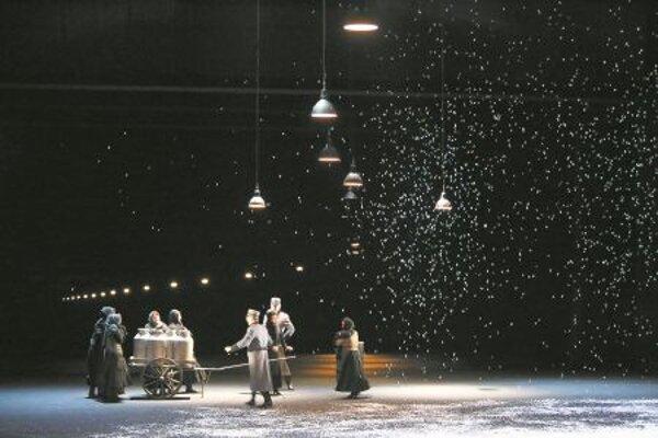 Life in snowy Paris as shown in Bohéme.