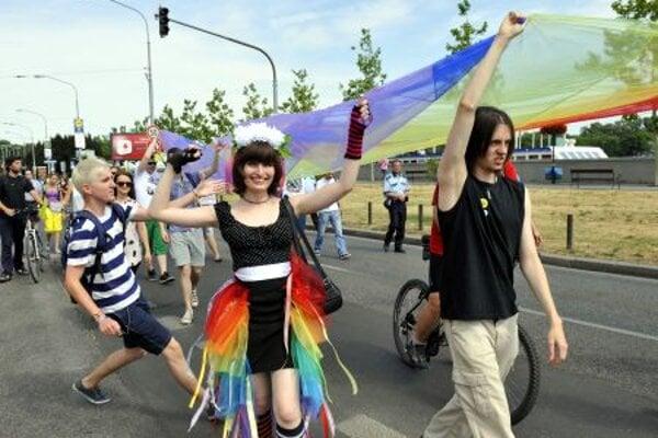Rainbow Pride in the streets of Bratislava.