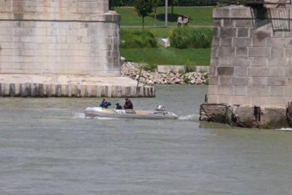An investigation team with special sonar equipment, mapped the bottom of Danube River.