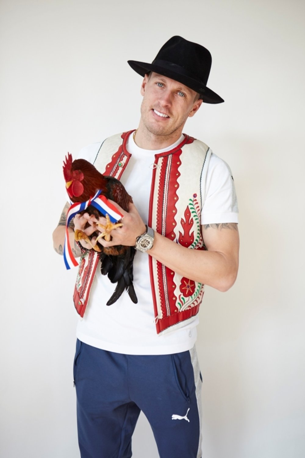 Ján Ďurica had no problems with the rooster.