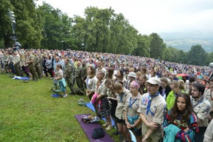 Thousands of believers flocked to Marian Hill at Levoča.