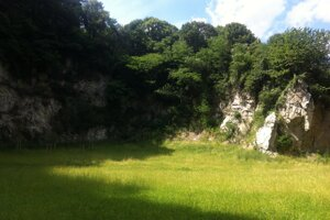The former quarry Kamenné Srdce (Stone Heart) as it looks now.