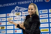 Slovak tennis player Dominika Cibulková after her triumph at the tournament in Linz on Sunday, October 16.