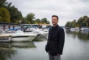 Co-founder of Danube Fund Juraj Čorba at Vlčie Hrdlo port at the Danube River.