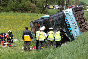 Bus accident, illustrative stock photo.