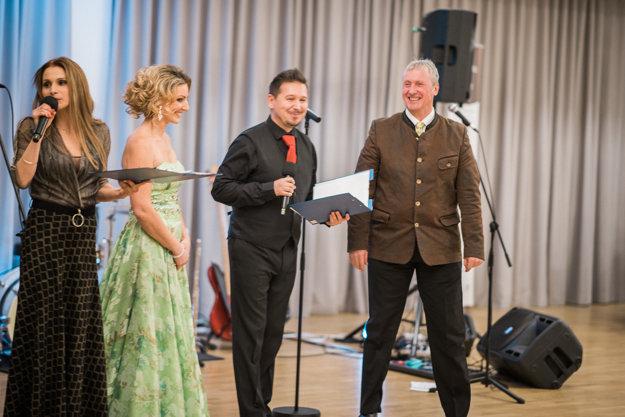 Slávka Halčáková, Zuzana Ondrisová, Michal Oberman and Gerhard Schoedinger, from left