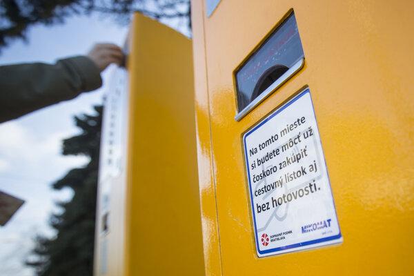City transport company uprgades its ticket machines.