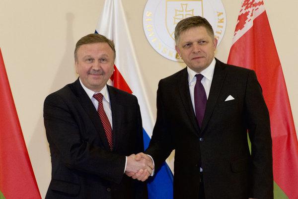 Andrej Kobjakov and Robert Fico