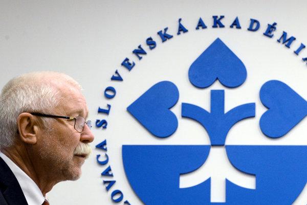 Pavol Šajgalík, head of the Slovak Academy of Sciences
