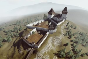 The Liptov Castle in virtual reality.
