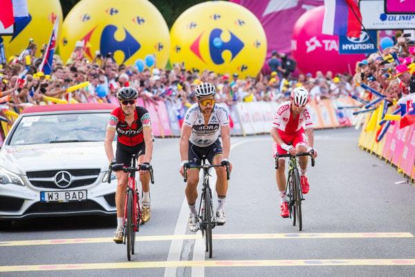 Peter Sagan (C) at teh last leg of the Tour de Pologne 2017 race.