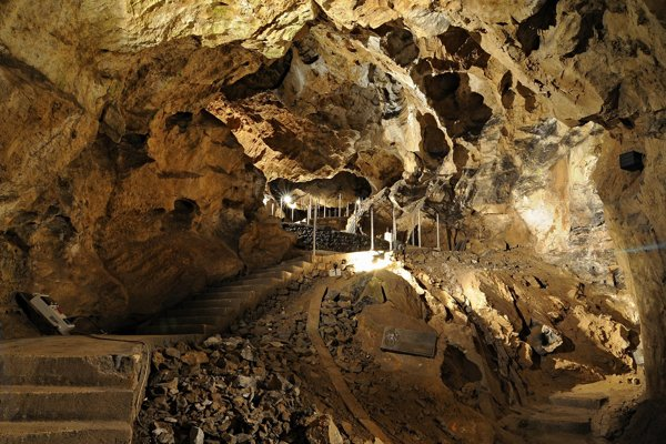 One of the halls in Belianska Cave