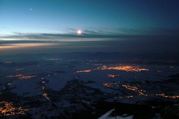 View from the observatory in Lomnický štít, High Tatras