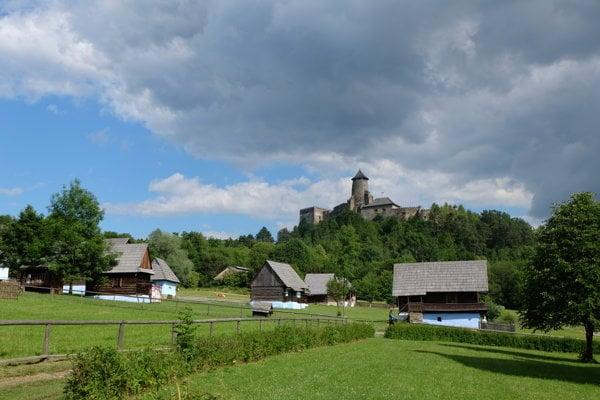Stará Ľubovňa Castle and the nearby open-air museum