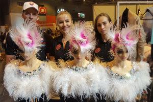 Slovak team of hairdressers, consisting of Sean Kasumovič, Miroslava Stroková and Simona Urbanová