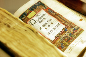 A New Testament by Martin Luther on display at the German Historical Museum in Berlin.