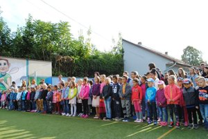 The new school year in Lučenec started.