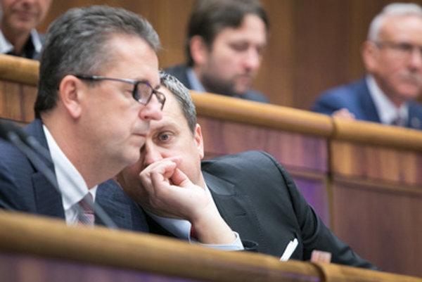 L-R: Martin Glváč and Andrej Danko
