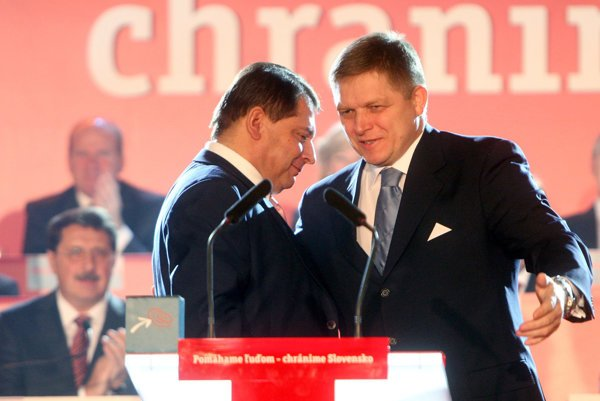 L-R: Former Czech PM Jiří Paroubek is out, and now evne his party declines; Slovak PM Fico holds on.