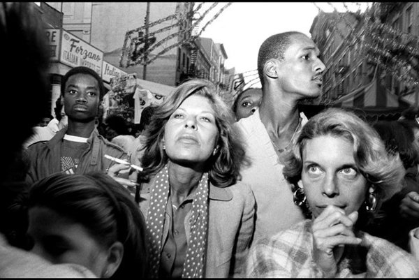 Bruce Gilden: Feast of San Gennero, Little Italy, 1984.
