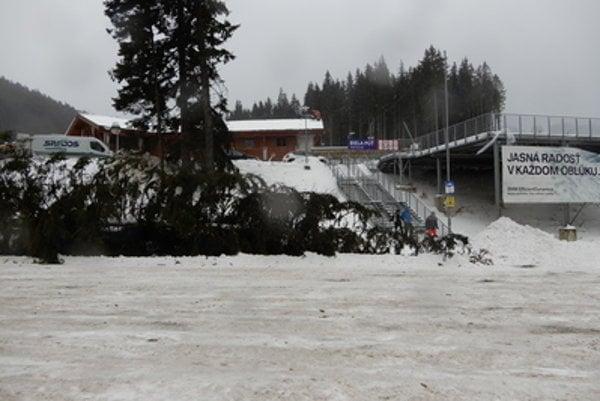 Jasná ski resort hit by hurricane.