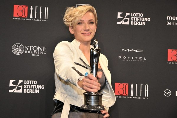 Alexandra Borbély, with the Euroepan Film Award 2017 for The Best Acctress.