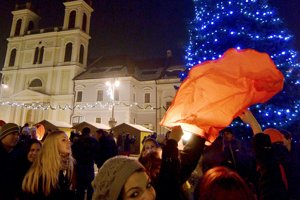 New Year's firework, Banská Bystrica