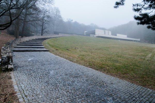Crematorium in Bratislava by architect Ferdinand Milučký