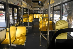 Interior of the Poprad e-buses