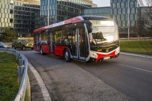 E-bus running in Bratislava
