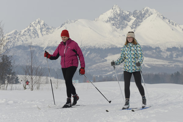 Cross-country skiing at the golf course in Veľká Lomnica